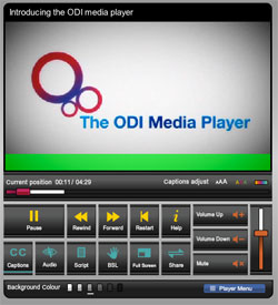 Zur Bildvergrößerung: Screenshot ODI Media Player