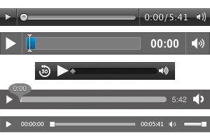 Screenshot: HTML 5 Audio - Steuerelemente pro Browser