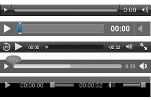 Screenshot: HTML5 Video - Steuerelemente pro Browser